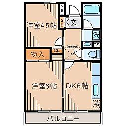 西山第9エルム大倉山[3階]の間取り
