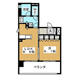 リーガル京都聖護院[3階]の間取り