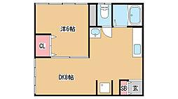 兵庫県神戸市中央区元町通1丁目の賃貸マンションの間取り