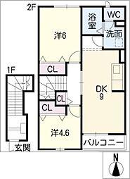 Miyukiコーポ[2階]の間取り