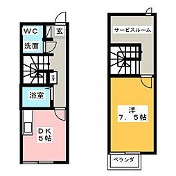 リースランド福島 A棟[1階]の間取り
