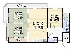川村ハイム[301号室号室]の間取り