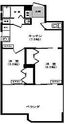 ファーストレジデンス[5階]の間取り
