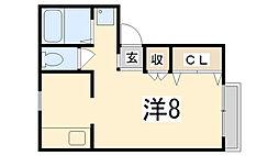 サンライフ松本[101号室]の間取り