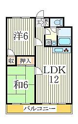 コーポ天子山NO1[2階]の間取り