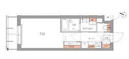 JR山手線 品川駅 徒歩9分の賃貸マンション 地下1階1Kの間取り
