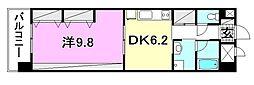 KWレジデンス竹原[202 号室号室]の間取り