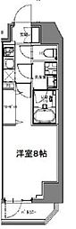 S-RESIDENCE大森山王 4階1Kの間取り
