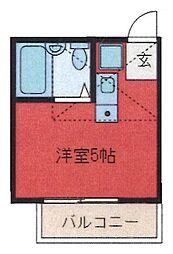 埼玉県さいたま市浦和区前地3丁目の賃貸アパートの間取り