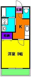 静岡県浜松市中区和地山3丁目の賃貸アパートの間取り