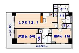 ライオンズマンション市川シティ[2階]の間取り