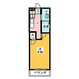 豊田ノースウエスト[2階]の間取り