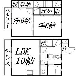 [一戸建] 静岡県浜松市西区大平台3丁目 の賃貸【静岡県/浜松市西区】の間取り