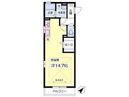 埼玉新都市交通 東宮原駅 徒歩7分の賃貸アパート 2階ワンルームの間取り