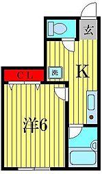 さかきマンション[3階]の間取り