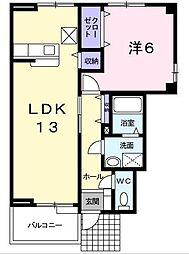 [大東建託]アヴァンツァート[1階]の間取り