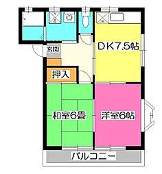 メゾン西所沢[2階]の間取り