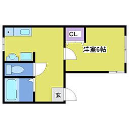 サニーパレス伊川谷[2階]の間取り