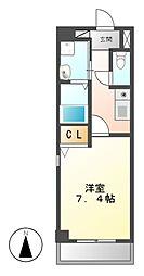 CRECER新栄[6階]の間取り