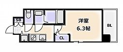 Osaka Metro千日前線 桜川駅 徒歩4分の賃貸マンション 3階1Kの間取り