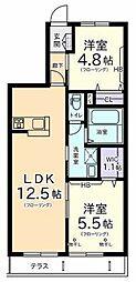 A flat[1階]の間取り