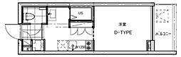 B CITY APARTMENT TACHIKAWA[208号室号室]の間取り