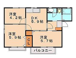 パストラルコーポ[2階]の間取り