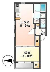 ラメールI[2階]の間取り
