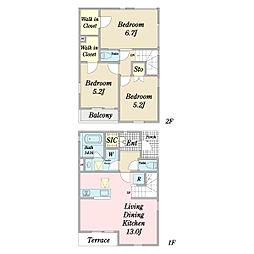 (仮称)はなのき台1丁目A棟計画新築工事 1階3LDKの間取り