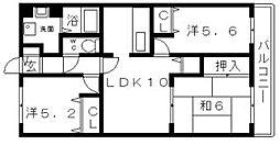 エムズコート[4階]の間取り