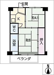 ビレッジハウス愛宕 4号棟[2階]の間取り