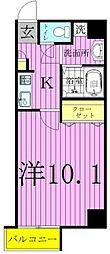 ヴィラエクセル3[104号室]の間取り