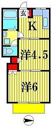 真寿美マンション[1階]の間取り