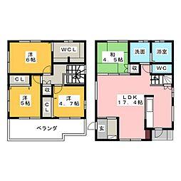 [一戸建] 愛知県岡崎市六名東町 の賃貸【/】の間取り