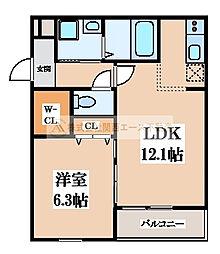 ピアチェーレII番館[2階]の間取り