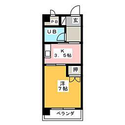 メゾン八幡[2階]の間取り