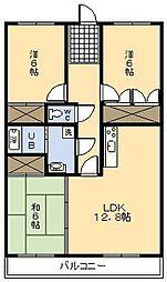 レジデンス17番館[2階]の間取り