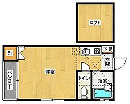 ブレインズ室見サード[202号室]の間取り