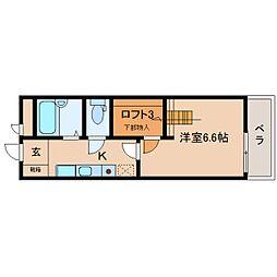JR関西本線 王寺駅 徒歩5分の賃貸マンション 4階1Kの間取り