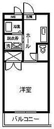 サンライズ山田II[202号室]の間取り