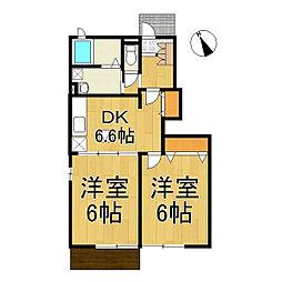 セレーノ金井[1階]の間取り