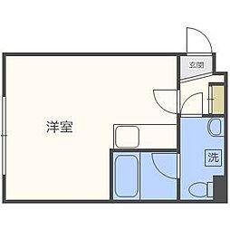ローヤルハイツ261[4階]の間取り