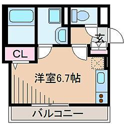 神奈川県横浜市緑区東本郷町の賃貸アパートの間取り