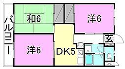 レーベンイケダ土居田2[403 号室号室]の間取り