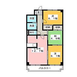 シャトレM[4階]の間取り