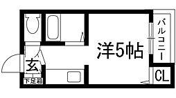 花屋敷日進ビル[3階]の間取り