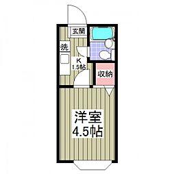 ジョイフル松戸[107号室号室]の間取り