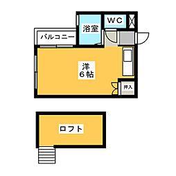 エスピエル箱崎[1階]の間取り