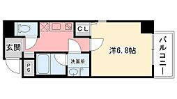 ディア甲子園口[2階]の間取り