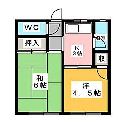 五月荘[2階]の間取り